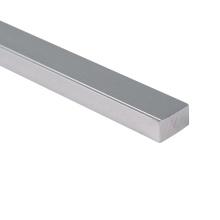 Tubo de alumínio sólido tubo quadrado de estrutura de alumínio anodizado leve