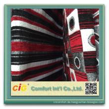 100 Polyester Sofa Chenille Stoff Chenille geometrische Stoff sofa