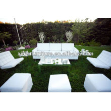 Pure white sofa and ottoman for outdoor wedding furniture XY0320