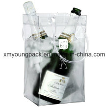Promotional Portable Plastic PVC Wine Carrier Wine Cooler Bag