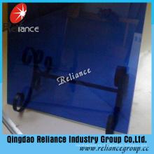 Cristal tintado azul marino de 6 mm con alta calidad