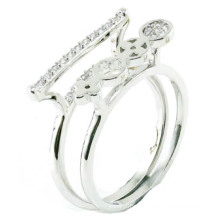 China al por mayor 2015 más nuevo anillo de la joyería de la plata esterlina de la manera 925 (R10423)