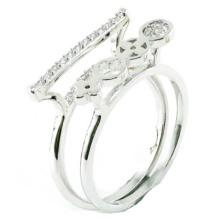 Китай Оптовая 2015 новейших моды 925 Серебряное кольцо ювелирные изделия (R10423)