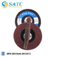 Disco abrasivo de moedura flexível da aleta com função estável
