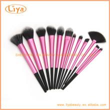 Großhandel 12pcs synthetische kosmetische Schönheit braucht Make-up Pinsel-Sets mit Logo-Print