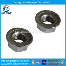 DIN стандарт Китайский производитель в ассортименте Стальная шестигранная гайка A2 с фланцем