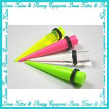 Oreille acrylique UV Stretcher Expander piercing bijoux ear plug tunnels de l'oreille