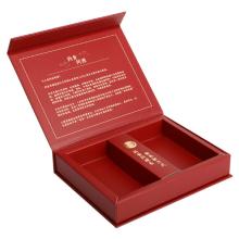 boîte de sachets de thé cadeau feuille d'or avec aimant