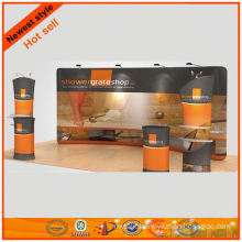 large size exhibits displays for mesh fabric booth 10x29' from Shanghai design