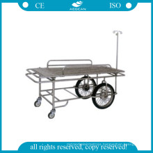 AG-Ss031 304 Stainless Steel Frame Ambulance Stretcher Trolley