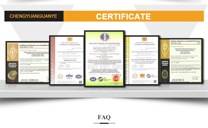 oil casing certificate