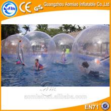 Grandes inflables de agua de pie de alquiler de pelota / bola de agua mágica venta