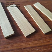 Techo de madera de teca moldeada cornisa molduras de corona molduras mdf molduras de madera decorativas lisas