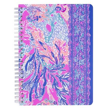 PURPLE SPIRAL NOTEBOOK -0