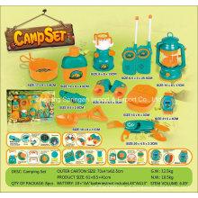 Boutique Playhouse plástico Toy-Camping Set com 11 acessórios