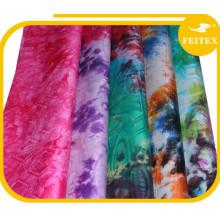 100% tissu de mousseline de soie de coton de jacquard de haute qualité de marché de vêtement et textile