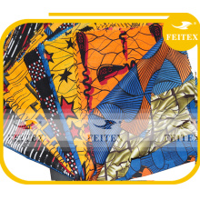 Pfirsich Haut China Hersteller neue Mode ODM Spandex afrikanischen Druck Polyester Kleidungsstück Stoff