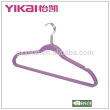 Conjunto de 3pcs borracha laca ABS cabide de roupas com entalhes e barra