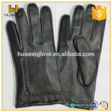 Vente en gros Cheap Leather Mens Machine à coudre des gants en cuir Winter