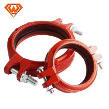montaje de tubería acanalada Acoplamiento flexible con color rojo
