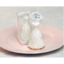 Personalized Gown White Wedding Dress Candle Wholesale