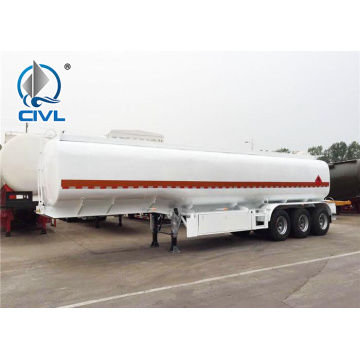 3 Axles Square Shape Trailer Tanker Cair Kimia