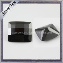 Precio bajo Black Rectangle Checker Corte Piedra Cúbica Zirconia