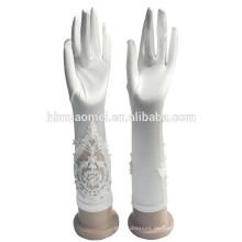 2017 Luxus Hochzeit Braut Kurz Satin Handschuhe