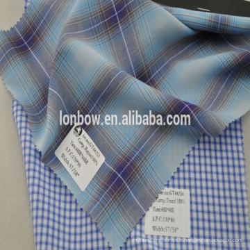 Vente chaude 100% reyon chemise tissu teints à carreaux