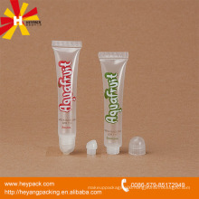 16ml transparent plastic lip gloss tube with round screw cap