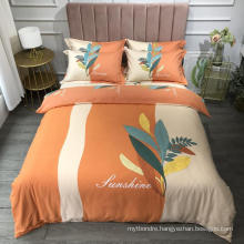 Hot Sale Good Quality Bedding Set Cotton Brushed Fabric Soft for Queen Bed Sheet Set