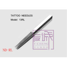 50 Pack Pre-made Sterile Tattoo Needles, On Bar/Round liner needles