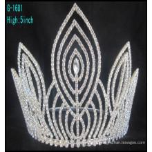 Coronas de desfile de moda grandes coronas personalizadas corona de cuadros alto corona
