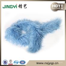 Wholesale tibétain mongol agneau fourrure écharpe en cuir
