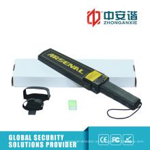 Alarma de LED de alto brillo Detectores de metales de mano de área no ciega