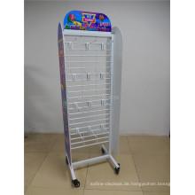 Custom Floor Stand Candy Store Display Regal Units Gridwall Regale Metall Haken Süßigkeiten Display Regal