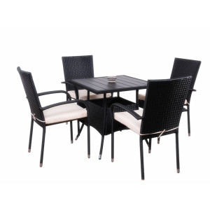 5pc rattan dining set for coffee shop
