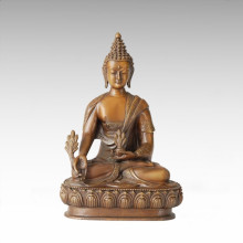 Estatua de Buda Bhaisajyaguru Escultura de bronce Tpfx-B44