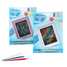 Mágico arco iris Scratch juegos arte papel
