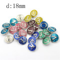 18mm Alloy Round Type Snap on Button for Garment
