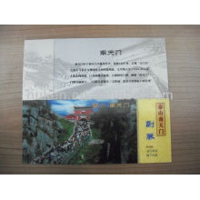 Custom Design High Quality 3D Lenticular Ticket
