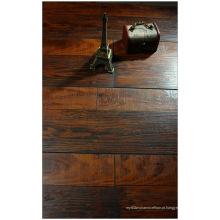 Comercial 12,3 mm mão raspada cereja V-sulcado piso laminado