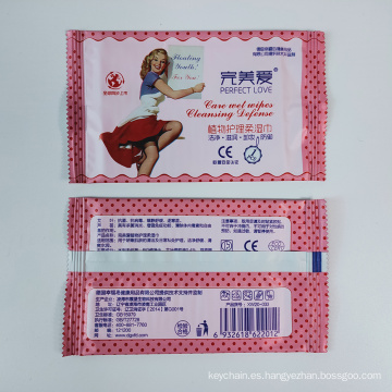 Paquete personalizado 20PCS Travel Toallitas femeninas envueltas individualmente