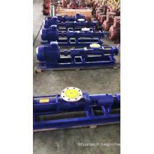 Pompe à vis hydraulique portable pour eaux d'égout