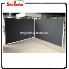 Jago aluminum side awning double screen