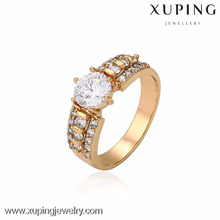 13265- Charms al por mayor Joyería de Xuping Moda Mujer 18K Anillo de oro