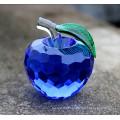 Várias cores cristal apple decoração artesanato em vidro