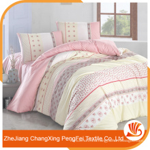 Color customized 100 polyester textile bed sheet fabric material for sale
