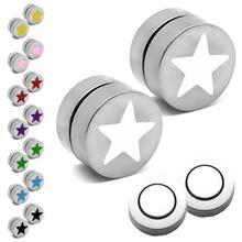 Magnetic Fake Cheater Plugs Stars Print
