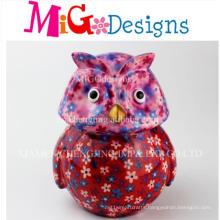 Wholesale Ceramic Floral Owl Money Bank
